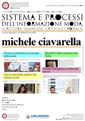 """Special Lecture with Michele Ciavarella: """"Sistema e ..."""