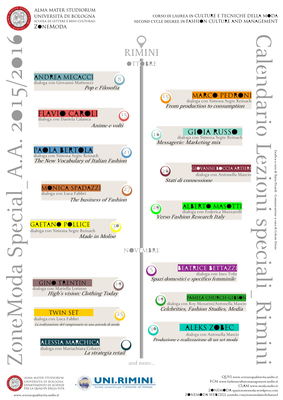 Calendario Lezioni Unibo.Calendar Special Lessons Fashion Culture And Management