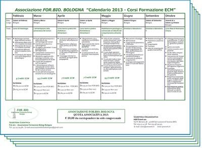 Unibo Calendario.Associazione For Bio Bologna Calendario 2013 Corsi
