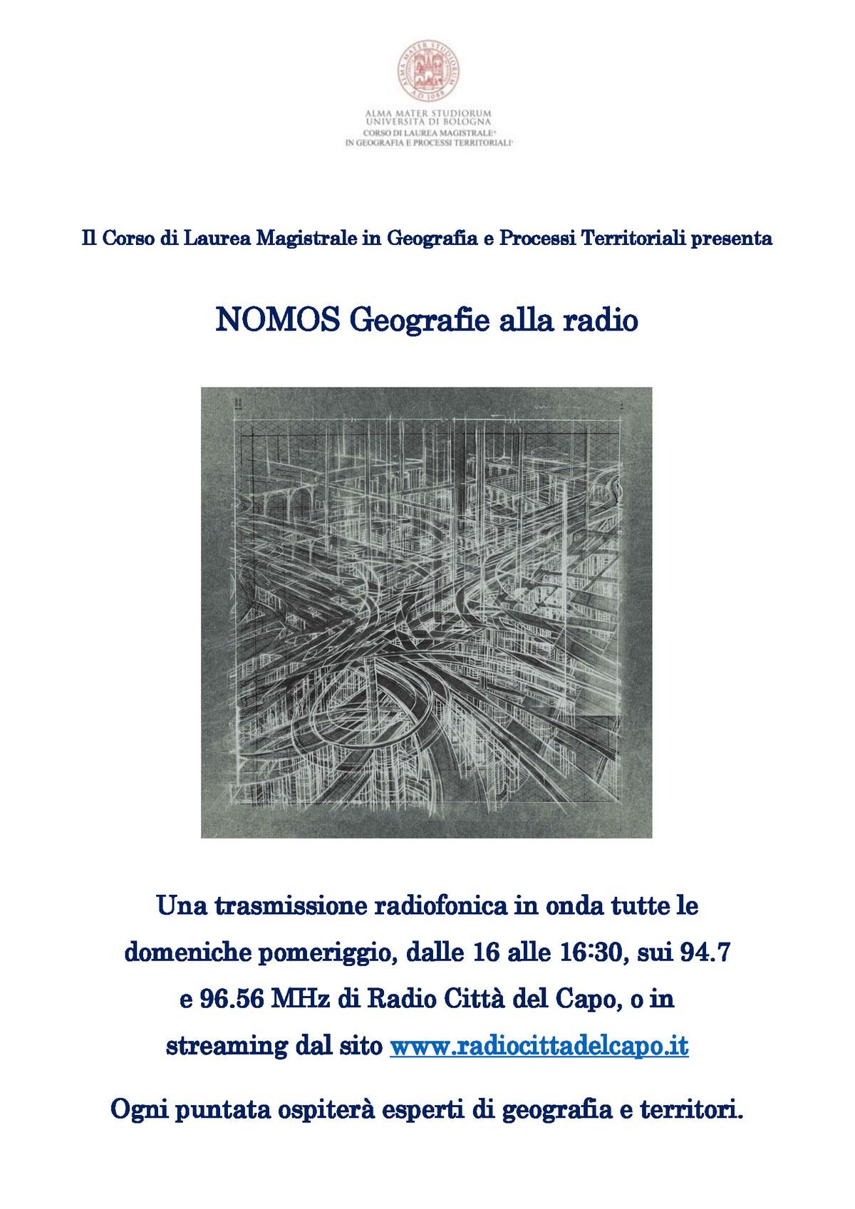 Locandina Nomos Geografie alla Radio