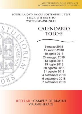 Tolc I Calendario.Calendario Tolc E 2018 Finanza Assicurazioni E Impresa